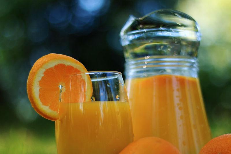 pur jus d'orange pressé